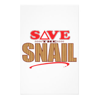 Snail Save Stationery Design