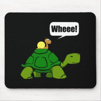 Snail Turtle Ride Mouse Mat
