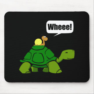 Snail Turtle Ride Mouse Pad