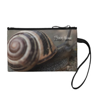 Snail Up Close Change Purse