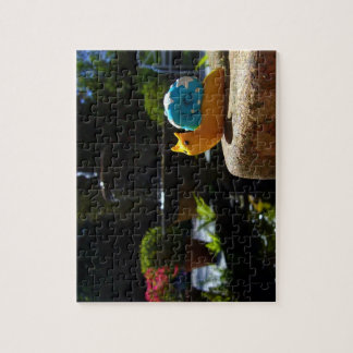 Snail visits fountain in English Garden Jigsaw Puzzle