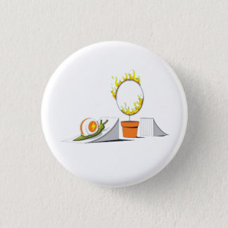 Snail vs Ring of Fire 3 Cm Round Badge