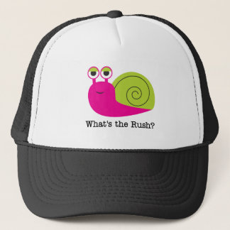 Snail What's the Rush Tshirts and Gifts Trucker Hat