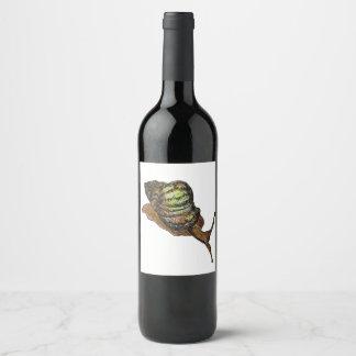snail wine label