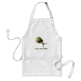 SNAIL WITH CAPTION FROM JUNGLEWALK.COM STANDARD APRON