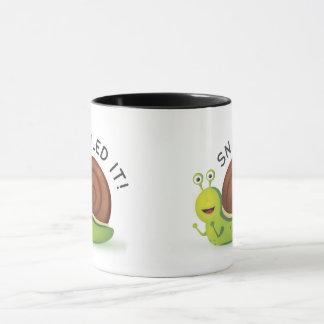 Snailed It Black Ringer Mug