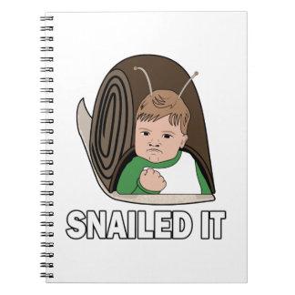 Snailed It Notebooks