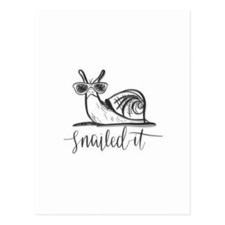 Snailed it postcard