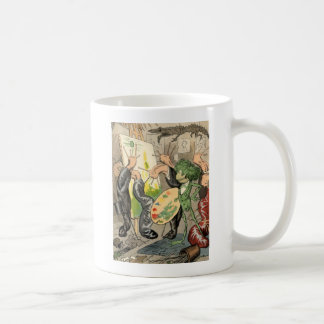 Snails and Toad Art Gallery Basic White Mug