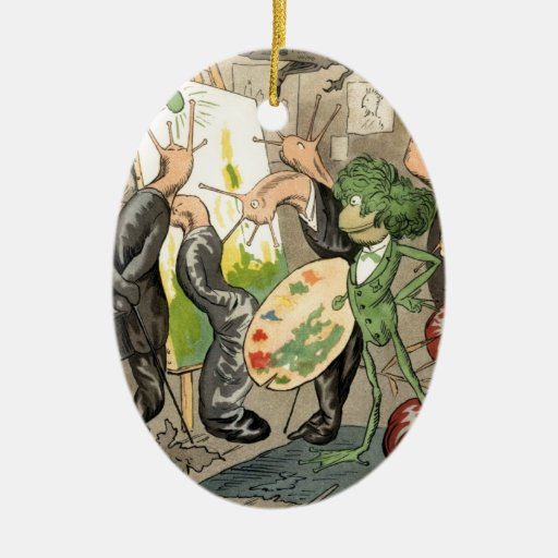 Snails and Toad Art Gallery Christmas Ornaments