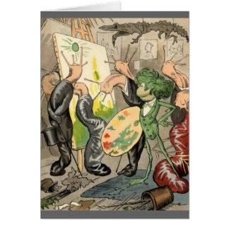 Snails and Toad Art Gallery Greeting Card