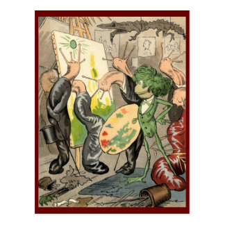 Snails and Toad Art Gallery Postcard