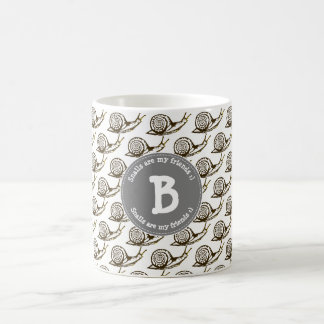 Snails are my Friends Monogram Coffee Mug