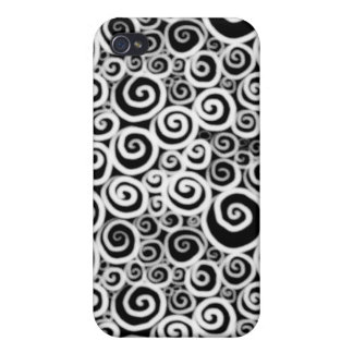 Snails BW Inverted iPhone 4 Cases