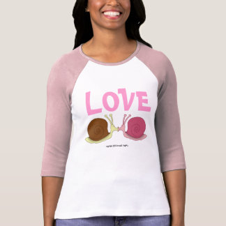 Snails In Love Ladies 3/4 Sleeve Raglan (Fitted) Shirt