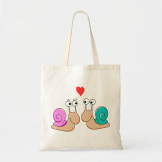 Snails in Love tote