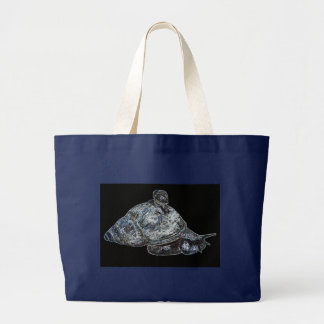 Snails in Silver Large Tote Bag