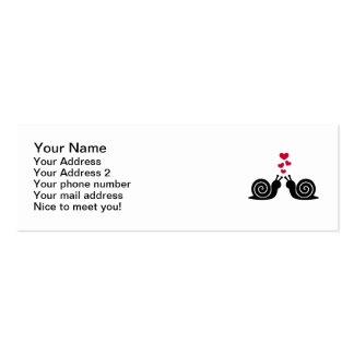 Snails red hearts love business card templates