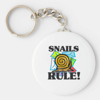SNAILS Rule! Basic Round Button Key Ring