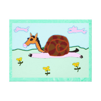 Snaily Horsey Penelope Stretched Canvas Prints
