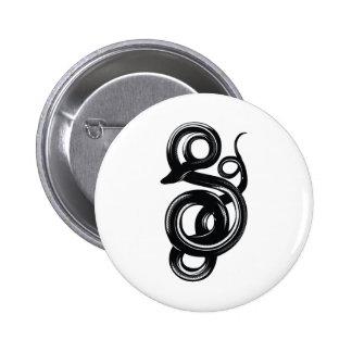 Snake 6 Cm Round Badge