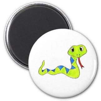 Snake 6 Cm Round Magnet
