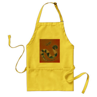 snake and butterfly apron