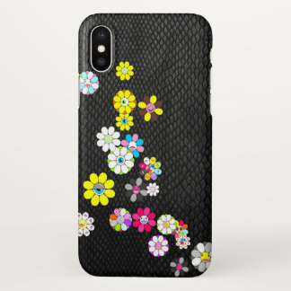 Snake and flowers iPhone x case