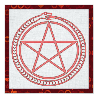 Snake and Pentagram 13 Cm X 13 Cm Square Invitation Card