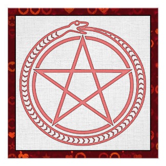 Snake and Pentagram Invitation