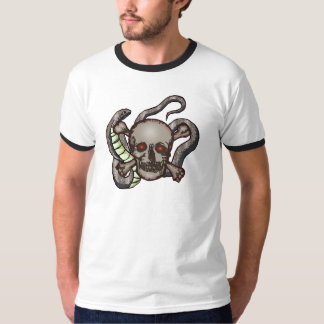 Snake and Skull Biker T shirts Gifts