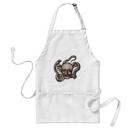 Snake and Skull Biker T shirts Gifts Apron
