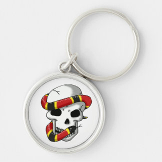 snake and skull (coral snake) keychain