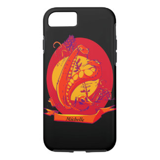 snake and the rose cartoon style illustration iPhone 8/7 case