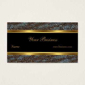 Snake Animal Gold Black Stripe Elegant Classy 2 Business Card