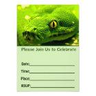 Snake birthday invitation fill in blank