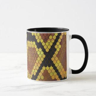 Snake Brown and Gold Print Mug