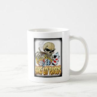 Snake City Playboys Skull Cards logo Basic White Mug