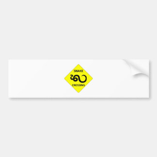Snake Crossing Sign Bumper Sticker