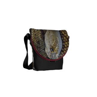 Snake Design - Mini Rickshaw Messenger Bag