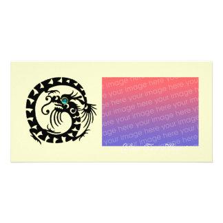 SNAKE DRAGON ,Blue Turquase Aquamarine Photo Cards