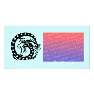 SNAKE DRAGON ,Blue Turquase Aquamarine Photo Greeting Card