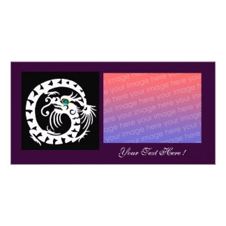 SNAKE DRAGON ,Blue Turquase Aquamarine purple Photo Greeting Card