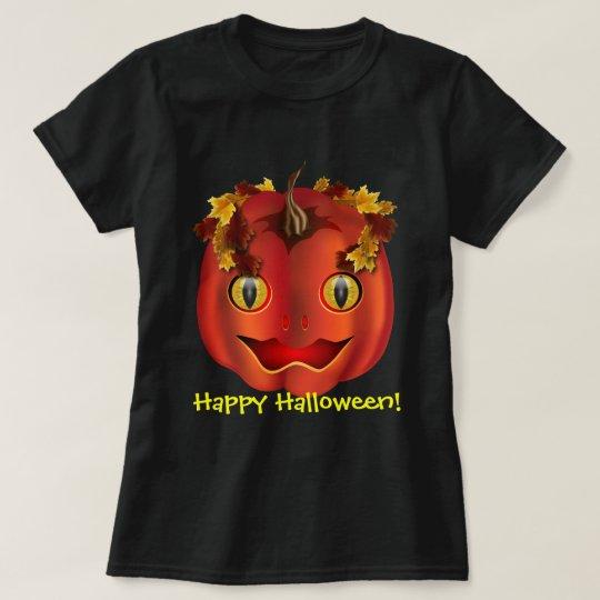 Snake-eyed Jack-O-Lantern Halloween T-Shirt