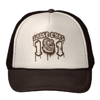 Snake Eyes Retro Grunge Graphic Cap