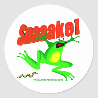 SNAKE fraidy frog Stickers