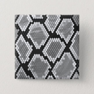Snake Gray, White and Black Print 15 Cm Square Badge