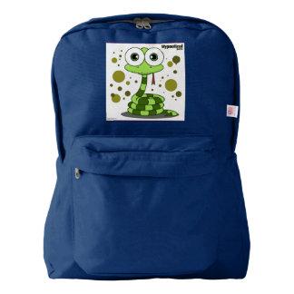 Snake(Green) Backpack, Navy Backpack