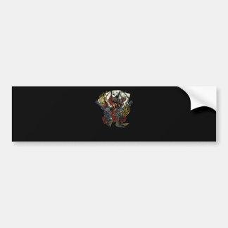 Snake Gun And Roses Poker Cards Bumper Sticker