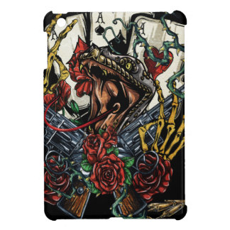 Snake Gun And Roses Poker Cards iPad Mini Cover